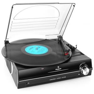 Auna Automatik Plattenspieler mit Lautsprecher