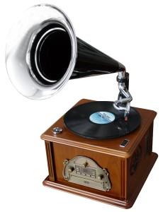 Schallplattenspieler im Retro Design